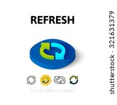 refresh icon  vector symbol in...