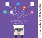 customer relationship...   Shutterstock .eps vector #321636509