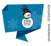 blue x'mas sale 50  off paper... | Shutterstock . vector #321641426