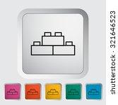 building block thin line flat ... | Shutterstock . vector #321646523