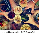 food beverage party meal drink... | Shutterstock . vector #321657668
