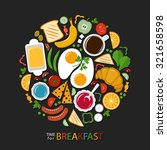 breakfast time  food collection ... | Shutterstock . vector #321658598