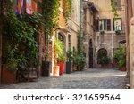 roman street. italy. old... | Shutterstock . vector #321659564