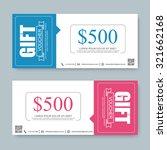 voucher  gift certificate ... | Shutterstock .eps vector #321662168