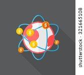 global finance icon  vector... | Shutterstock .eps vector #321665108