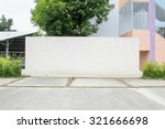 large blank billboard on a... | Shutterstock . vector #321666698