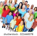 community variation diverse... | Shutterstock . vector #321668378