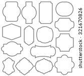 simple vector frame set  blank... | Shutterstock .eps vector #321670826