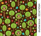 seamless forest pattern with... | Shutterstock .eps vector #321674564