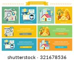 set concept investment flat... | Shutterstock .eps vector #321678536