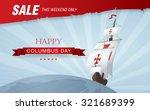 columbus day. sale | Shutterstock .eps vector #321689399