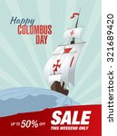 columbus day. sale | Shutterstock .eps vector #321689420
