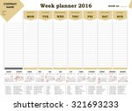 Week Planner 2016 Calendar For...
