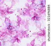 Delicate Blooming Lilacs With...