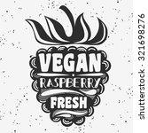 vegan typographic print with... | Shutterstock .eps vector #321698276