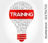 training bulb word cloud ... | Shutterstock .eps vector #321701723