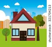 real estate home design  vector ... | Shutterstock .eps vector #321704213