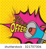 shopping special offers design  ... | Shutterstock .eps vector #321707306