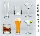glasses  alcohol drink vector... | Shutterstock .eps vector #321708236