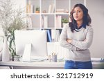 confident female entrepreneur... | Shutterstock . vector #321712919