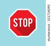 vector stop sign icon   Shutterstock .eps vector #321716090