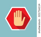 no entry hand icon | Shutterstock .eps vector #321716114