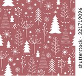 seamless christmas pattern  | Shutterstock .eps vector #321719096