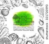 food design template. frame for ... | Shutterstock .eps vector #321720593