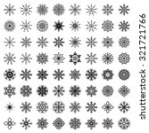 big set of vector snowflakes ... | Shutterstock .eps vector #321721766