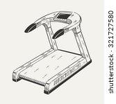 illustration of treadmill.... | Shutterstock .eps vector #321727580