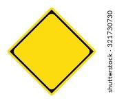 diamond yellow warning sign | Shutterstock .eps vector #321730730