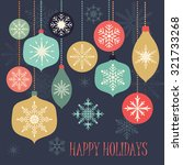 christmas card with decoration... | Shutterstock .eps vector #321733268