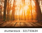 wooden table. autumn design... | Shutterstock . vector #321733634