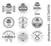 gentleman barber shop set of... | Shutterstock .eps vector #321734534