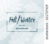 fall winter sale poster with... | Shutterstock .eps vector #321737429