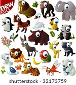 new extra big vector animal set | Shutterstock .eps vector #32173759