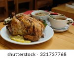 roast turkey  stuffing  gravy... | Shutterstock . vector #321737768