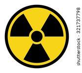 radiation hazard sign. symbol... | Shutterstock .eps vector #321737798