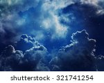 stars in the night sky blue... | Shutterstock . vector #321741254