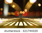 empty street city at night and... | Shutterstock . vector #321744320