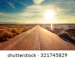 Small photo of Road through landscape. Road and car travel scenic and sunset.Road travel concept.Car travel adventures.