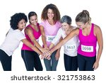 smiling athletes putting their... | Shutterstock . vector #321753863