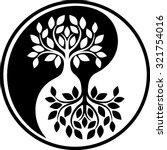 yin yang tree series | Shutterstock .eps vector #321754016