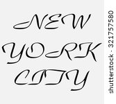 new york  vector illustration | Shutterstock .eps vector #321757580