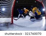 ice hockey goalkeeper  player... | Shutterstock . vector #321760070