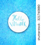 Label Hello Winter Over Frosty...