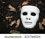 White Scary Halloween Mask On...
