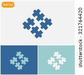 puzzles piece vector icon. | Shutterstock .eps vector #321764420