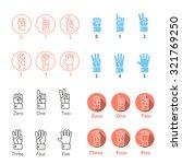 set of vector counting hands.... | Shutterstock .eps vector #321769250