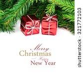 christmas decorations. tree... | Shutterstock . vector #321772103